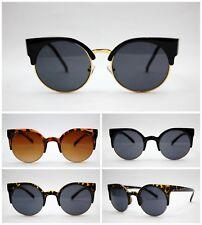 années 80 mode rétro Lunettes de soleil vintage chat d'oeil plastique métal