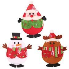 Kitchen Tableware Holders Pockets Christmas Decor Elk Santa Claus Snowman 6L