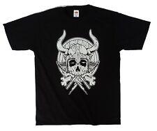 Viking Skull, undead viking warrior helmet cool urban mens t shirt