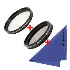 3-fach Objektiv Set  UV Filter + Polfilter SLIM CPL + Microfaser Reinigungstuch