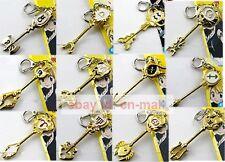 Fairy Tail Lucy Heartfilia Key Pendant Necklace Cosplay Metal Magic Keychain