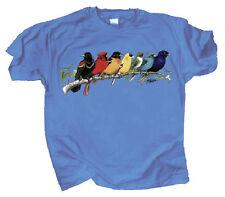 Songbird Spectrum Adult T Shirt Medium through 2XL Bunting Cardinal Oriole Finch
