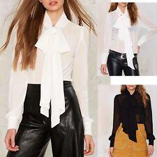 Camicia Donna Manica Lunga Collo Foulard Woman Shirt Blouse Long Sleeves 541011
