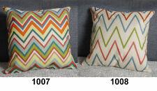 Various Retro Composite Linen Pillow Case Colorful Zigzag Cushion Cover 42x42cm