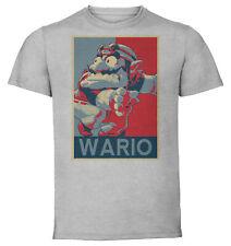 T-Shirt Unisex - Maglietta Grigia - Propaganda - Smash Bros Wario