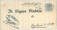ITALIA REGNO - MARCA DA BOLLO 5a su MANIFESTO - BRESCIA 1882 - ROCADELLE