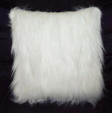 Fq869a Cream White Thick Long Faux Fur Cushion Cover/Pillow Case*Custom Size*