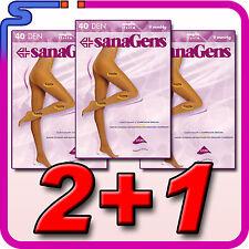 COLLANT SANAGENS PRATIQUE 40 DEN 2+1 IN OMAGGIO MAGLIA LISCIA  MALICE 40 PANT
