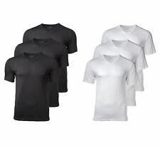 HUGO BOSS 3 Pack Cotton Classic V-Neck T-Shirt, Shirt SS VN, Einfarbig