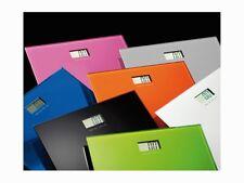 Bilancia pesapersone elettronica modello Rainbow nera o verde in vetro e metallo