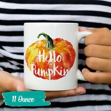 Hello Pumpkin Fall Mug Pumpkins Autumn Coffee Mugs Cute Halloween Gift Cup