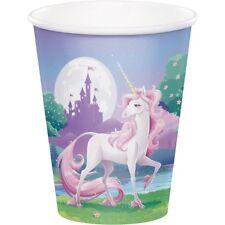 Unicorn Fantasy Castle Magical 266ml Paper Party Cups 1-48pk