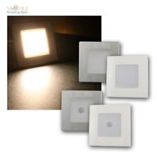 LED Wand-Einbauleuchte weiß/silber, Stufenlicht, Treppenlicht für UP-Dose, 230V