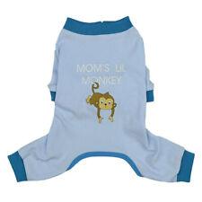 Blue Adorable Monkey Cotton Apparel Dog Pajamas Pup Shirt Pet Clothes Cat Vest