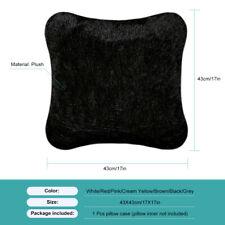 Fluffy Faux Fur Plush Throw Pillow Cases Shaggy  Chair Sofa Cushion Covers