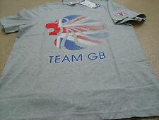 "Olympics London 2012 Team GB Men's Grey T-Shirt, Size: S (Chest 36-38"")  (TR20)"