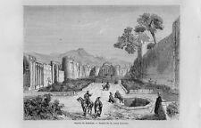 Stampa antica KASCHAN veduta regione di Esfahan Persia IRAN 1862 Old print