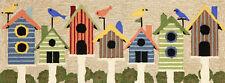 "New listing Area Rugs - ""Home Tweet Home"" Bird House Ru 00002939 G - 24"" x 60"" Or 27"" x 72"" Runner"