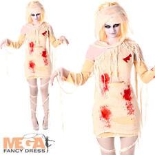 Zombie Mummy Ladies Halloween Fancy Dress Undead Egyptian Womens Adults Costume