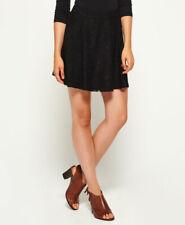 Womens Superdry Annushka Lacy Skirt Black