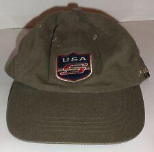MENS STRUCTURE OLIVE DRAB GREEN NOVELTY BASEBALL HAT/ CAP