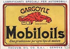 PUBBLICITA' 1922 MOBILOILS GARGOYLE MOTORE OLIO LUBRIFICANTE AUTO VINTAGE CARS