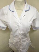 Unicorp White with Pale Blue Trim Ladies Tunic Nurse, Vets, Care  Uniforms