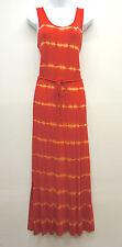 New! Kensie Firecracker Tye Dye Striped Maxi Dress with Belt Women's