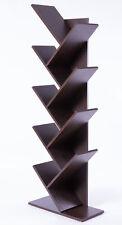 New Basicwise Wooden 9-Shelf Tree Magazine CD Storage Bookcase