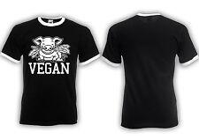 Vegan Ringer Shirt Straight Edge Meat is Murder , Nein zu Pelz