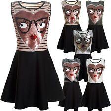 Kinder Mädchen Kleid Peticoatkleid Festkleid Freizeit Sommerkleid Kostüm 21437