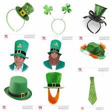 St. Patricks Day Hut Haarreif Krawatte Accessoire Accessoires Hut mit Bart NEU