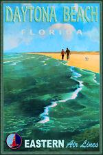 Daytona Beach Florida Eastern Air Lines Atlantic Ocean Poster Art Print 287