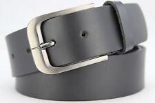 Echt LEDER Gürtel Herren Damen Rindleder Schwarz Matt - 4cm Breit - ca. 3mm Dick