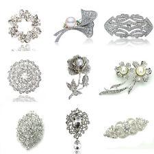 Luxury Vintage Style Bridal Wedding Prom Corsage White Flower Brooch Decoration