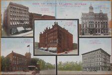 1913 Postcard: Iowa's 5 Leading Hotels-Keokuk/Oskaloosa
