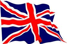 Waving Union Jack flag vinyl stickers X 4 decals FREE P&P