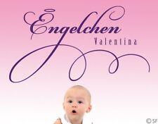 Wandtattoo Kinderzimmer Engelchen Wunschtext uss247