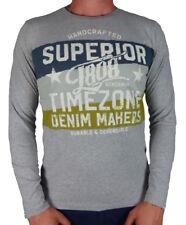 Timezone T-shirt Longsleeve Superior Flag grau Techno Top Neu Angebot Herren