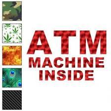 ATM Machine Inside  Decal Sticker Choose Pattern + Size #80