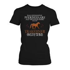 Trakehner Glitzer Damen T-Shirt Spruch Geschenk Idee Pferd Reiten Reitsport Neu