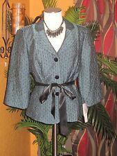 ADRIANNA PAPELL EVENING ESSENTIALS NWT $159 16 teal women's shirt dress party