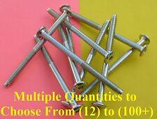 "Low-Profile Zinc Plated Bolts 1/4-20 90mm(~3.54"") Length/13mm Hex Head CNC JCB"