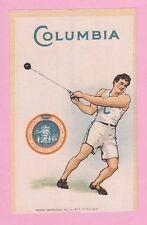 c1910s S22 tobacco silk COLUMBIA COLLEGE Hammer Throw