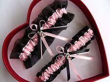 NEW Beautiful Light Pink Black Wedding Garter Prom Dolphin GetTheGoodStuff A+