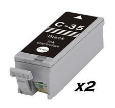2 Cartuccia di inchiostro PGI-35BK NERO PER CANON PGI-35 IP100