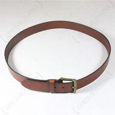 classico marrone cintura in pelle - bovina uomo pantaloni ZINC fibbia NUOVO da