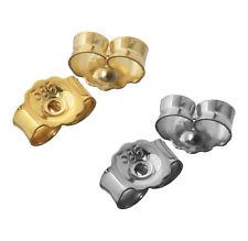 1Paar 585 Weiß oder Gelbgold Ohrmutter  Stopper Gegenstecker Lochgröße  0,8mm