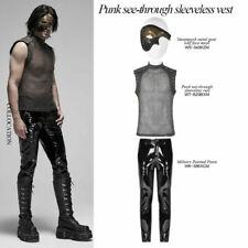 PUNK RAVE Men Punk See-through Sexy Sleeveless Vest Slim Fit Pullover Waistcoat