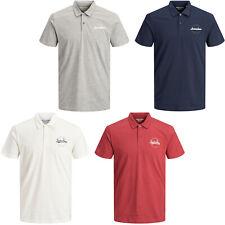 Jack & Jones Originals Polo Shirt Mens Front Logo Print s/s Tee T-Shirt JORRaffy
